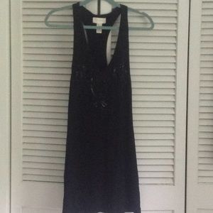 Black tank dress with sequins  xs  $20